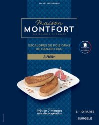 Escalopes de foie gras de canard cru surgelées
