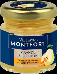 Chutney de poires et zestes d'agrumes