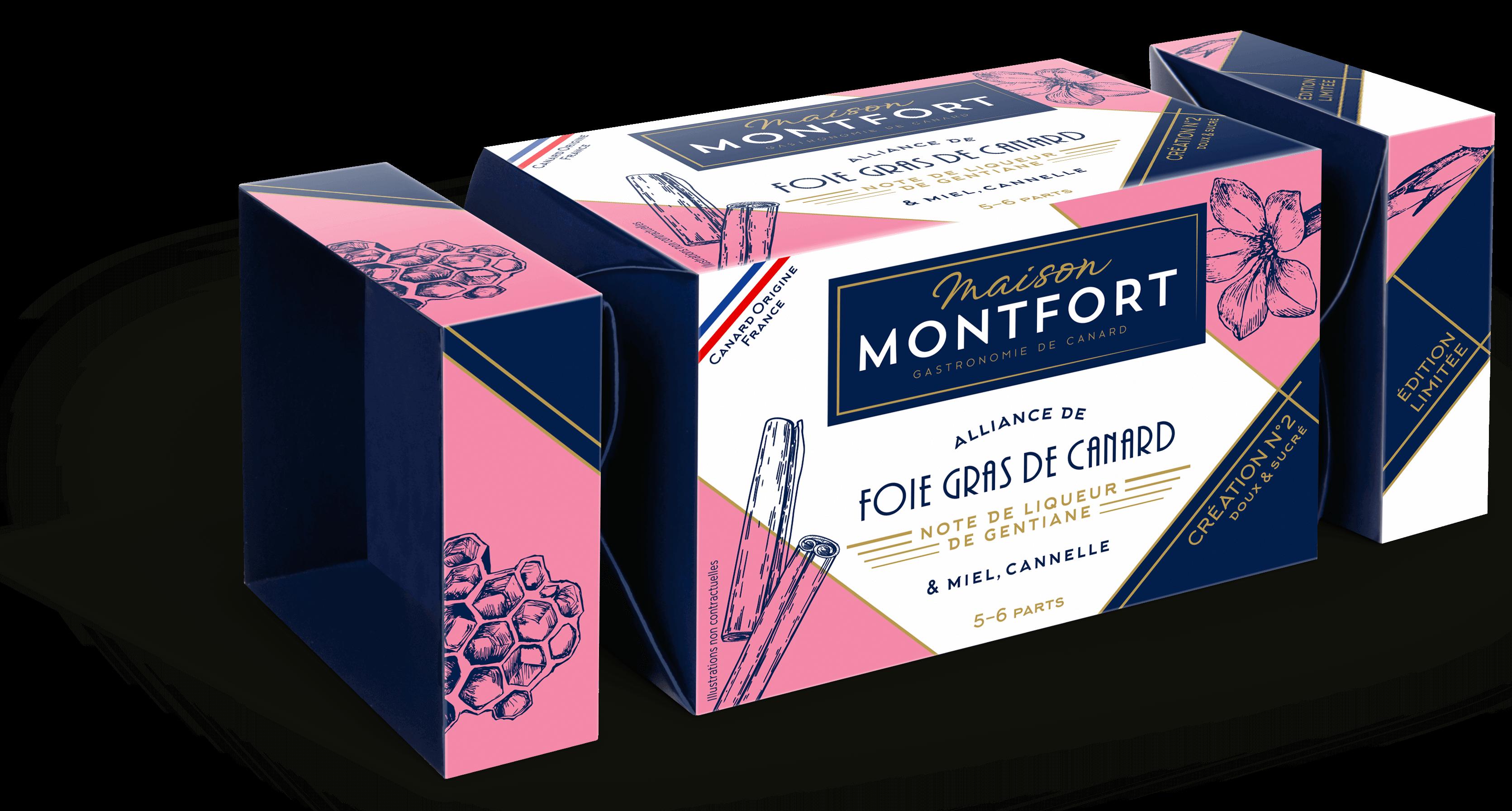 Création n°2 Alliance de foie gras de canard, note de liqueur de gentiane & miel, cannelle